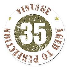 35th Vintage birthday Round Car Magnet