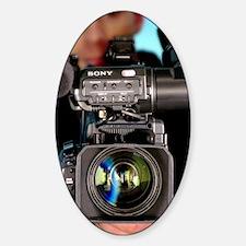 TV camera and cameraman Sticker (Oval)