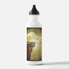 Vintage Ski VT Poster Water Bottle