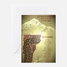 Vintage Ski VT Poster Greeting Card