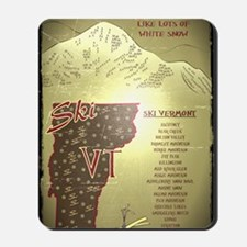 Vintage Ski VT Poster Mousepad