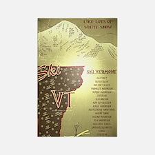 Vintage Ski VT Poster Rectangle Magnet
