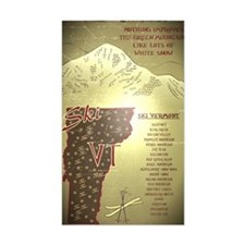 Vintage Ski VT Poster Decal