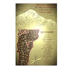 Vintage Ski VT Poster Postcards (Package of 8)