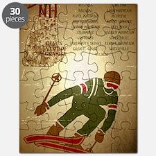 Vintage Ski NH Poster Puzzle