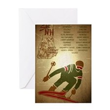 Vintage Ski NH Poster Greeting Card