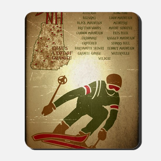 Vintage Ski NH Poster Mousepad