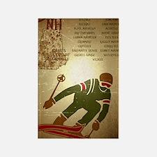 Vintage Ski NH Poster Rectangle Magnet