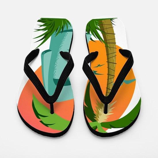 Moai Flip Flops