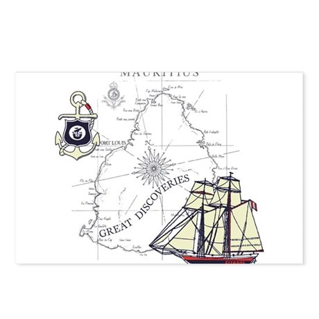 Mauritius Boat Postcards (Package of 8)