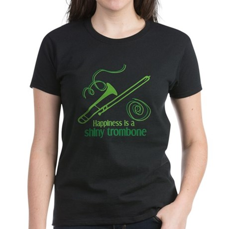 Shiny Trombone Women's Dark T-Shirt