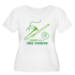 Shiny Trombone Plus Size Scoop Neck T-Shirt