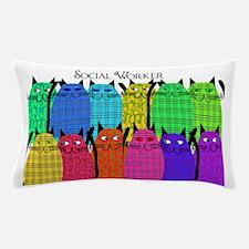 social worker cats horizi blanket Pillow Case