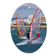 Windsurfing Oval Ornament
