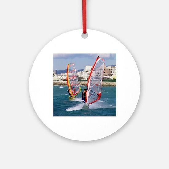 Windsurfing Round Ornament