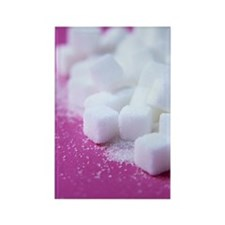 White sugar cubes Rectangle Magnet