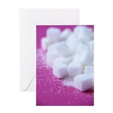 White sugar cubes Greeting Card