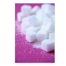 White sugar cubes Postcards (Package of 8)