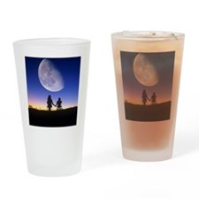 Waning gibbous moon Drinking Glass