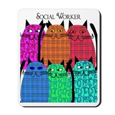 social worker cats 1 Mousepad