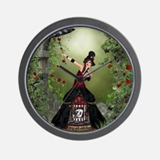 amus_60_curtains_834_H_F Wall Clock