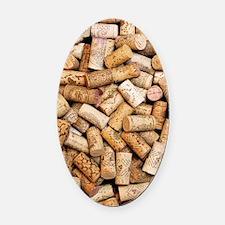 Wine bottle corks Oval Car Magnet
