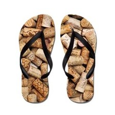 Wine bottle corks Flip Flops