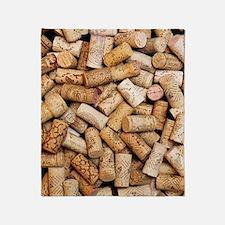 Wine bottle corks Throw Blanket