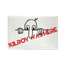 Kilroy Was Here Rectangle Magnet