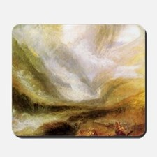 William Turner snowstorm and avalanche Mousepad