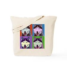 Husky Pop Art Tote Bag