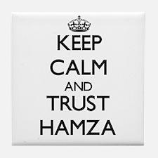 Keep Calm and TRUST Hamza Tile Coaster