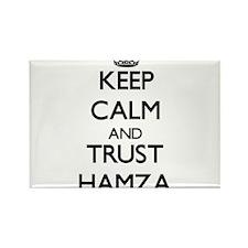 Keep Calm and TRUST Hamza Magnets