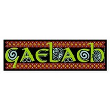 """GAELACH""(IRISH) Bumper Sticker BLACK"