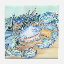 crab seaside beach throw Tile Coaster