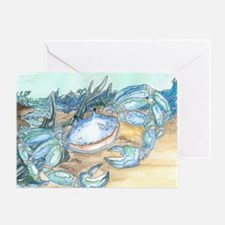 crab seaside beach throw Greeting Card