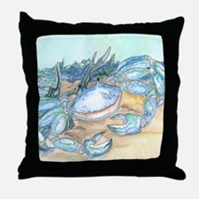 crab seaside beach throw Throw Pillow