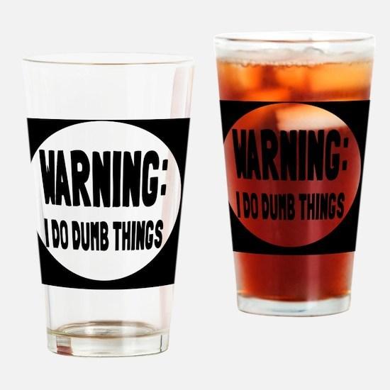 warningbutton Drinking Glass