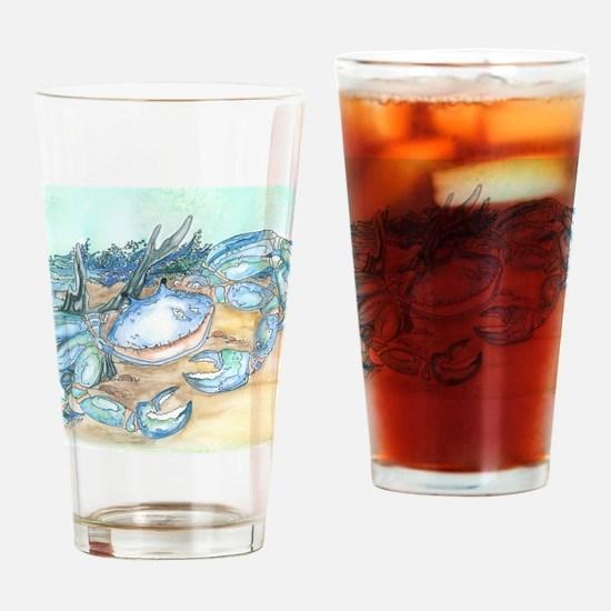 crab seaside beach throw Drinking Glass