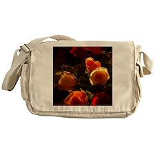 Roses I - Orange, Red and Gold Glory Messenger Bag