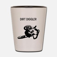 motocross dirt diggler Shot Glass