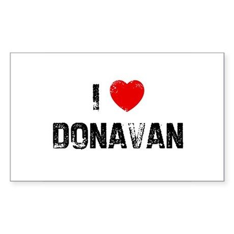 I * Donavan Rectangle Sticker