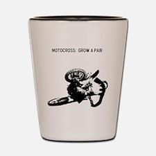 motocross grow a pair Shot Glass
