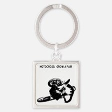 motocross grow a pair Square Keychain