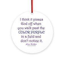 Color Purple Round Ornament