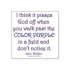 """Color Purple Square Sticker 3"""" x 3"""""""