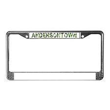 Andersontown, Vintage Camo, License Plate Frame