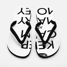 KEEP CALM AND MARRY MONEY Flip Flops