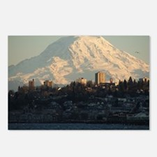 Mt. Rainier with city Postcards (Package of 8)