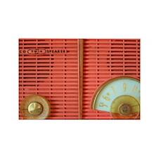 Vintage Coral Philco Radio Rectangle Magnet